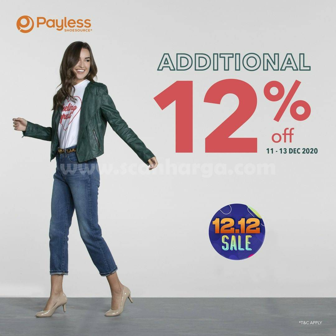 Promo Payless Shoesource 12.12 SALE Additional Disc 12% Off