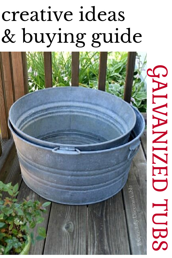 Creative ideas and buying guide for galvanized tubs