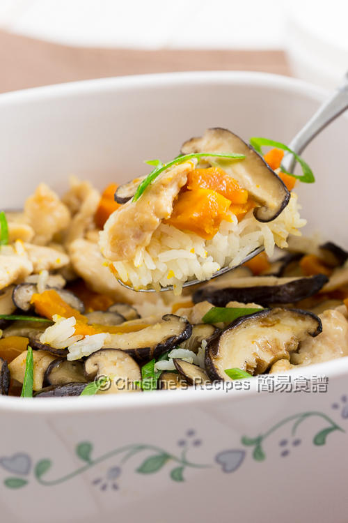 Pumpkin Mushroom and Chicken Rice02