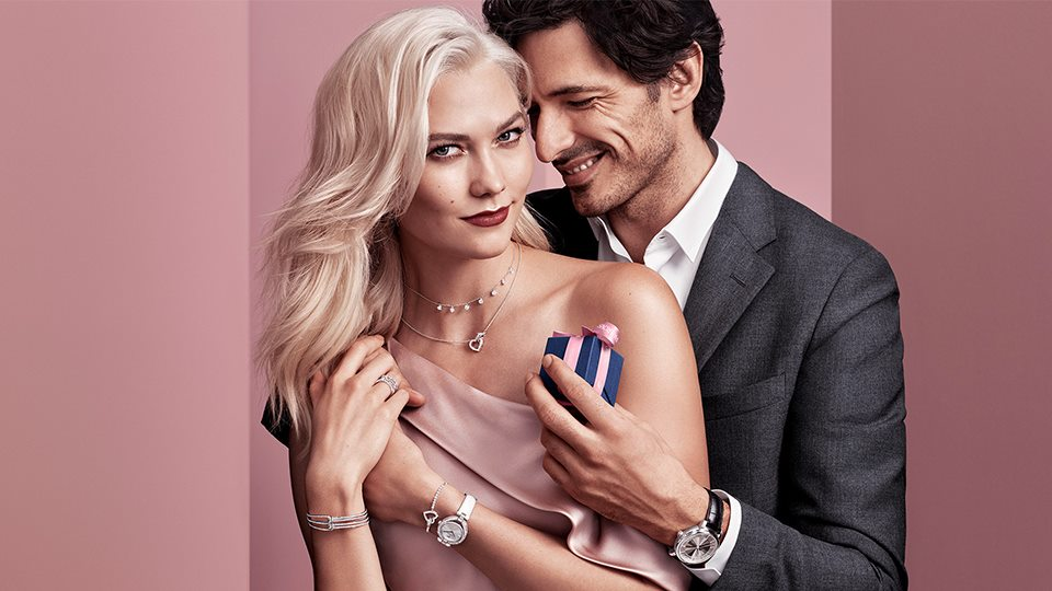 Swarovski 2018 Valentine's Day Campaign featuring Karlie Kloss