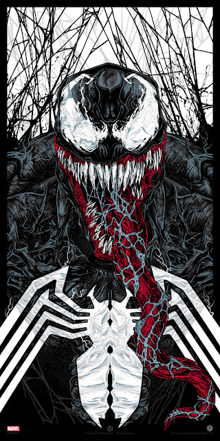Venom Marvel Comics Screen Print by Rhys Cooper x Grey Matter Art
