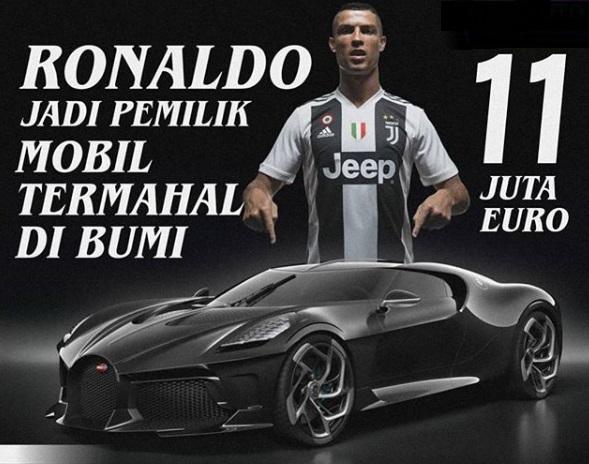 Bugatti La Voiture Noire cristiano ronaldo