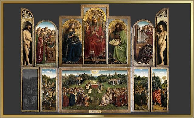 Sint-Baafskathedraal,,arts ,painting ,flemishpainting  ,vaneyck