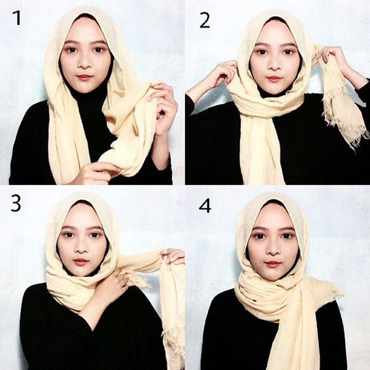 13 Gaya Pakai Tudung dan Shawl
