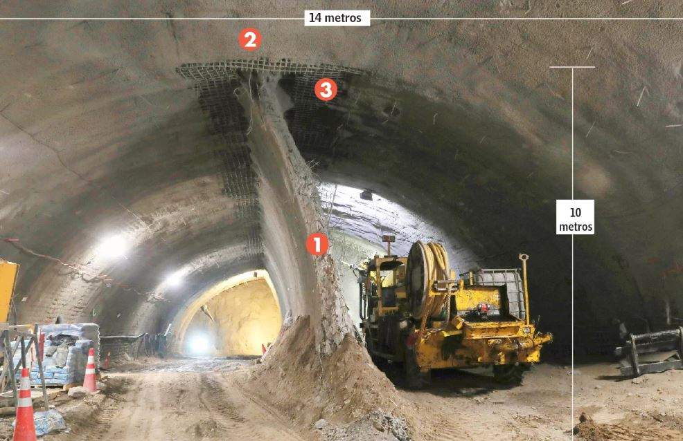 Muros provisorios permiten construir estaciones de Metro