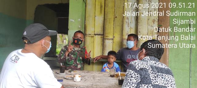 Dukung Percepat Vaksinasi, Personel Jajaran Kodim 0208/Asahan Sosialisasikan Kepada Masyarakat