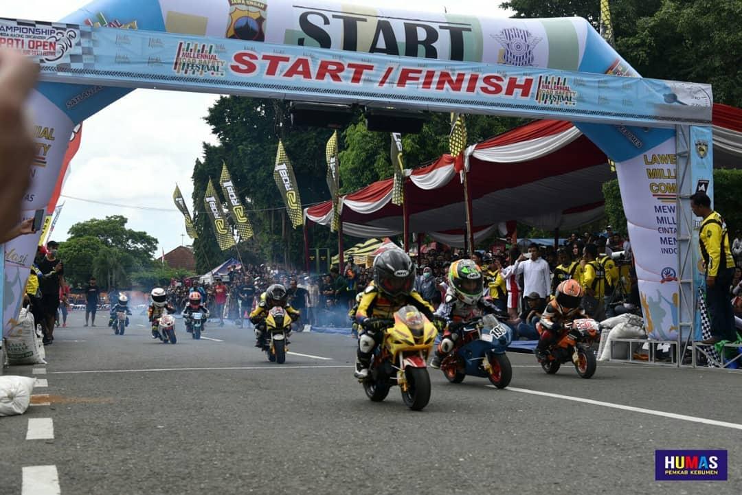 470 Pembalap Tanah Air Turun di Open Road Race Bupati Bupati Kebumen Cup 2019