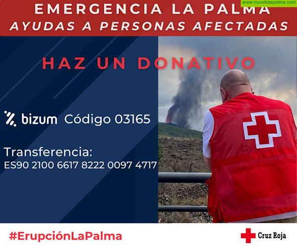 Más de 450 personas evacuadas por la erupción del volcán han pasado ya por el albergue de Cruz Roja en La Palma