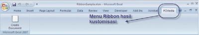Memprogram Ribon, Worksheet, Dan Chart Pada Micosoft Excel