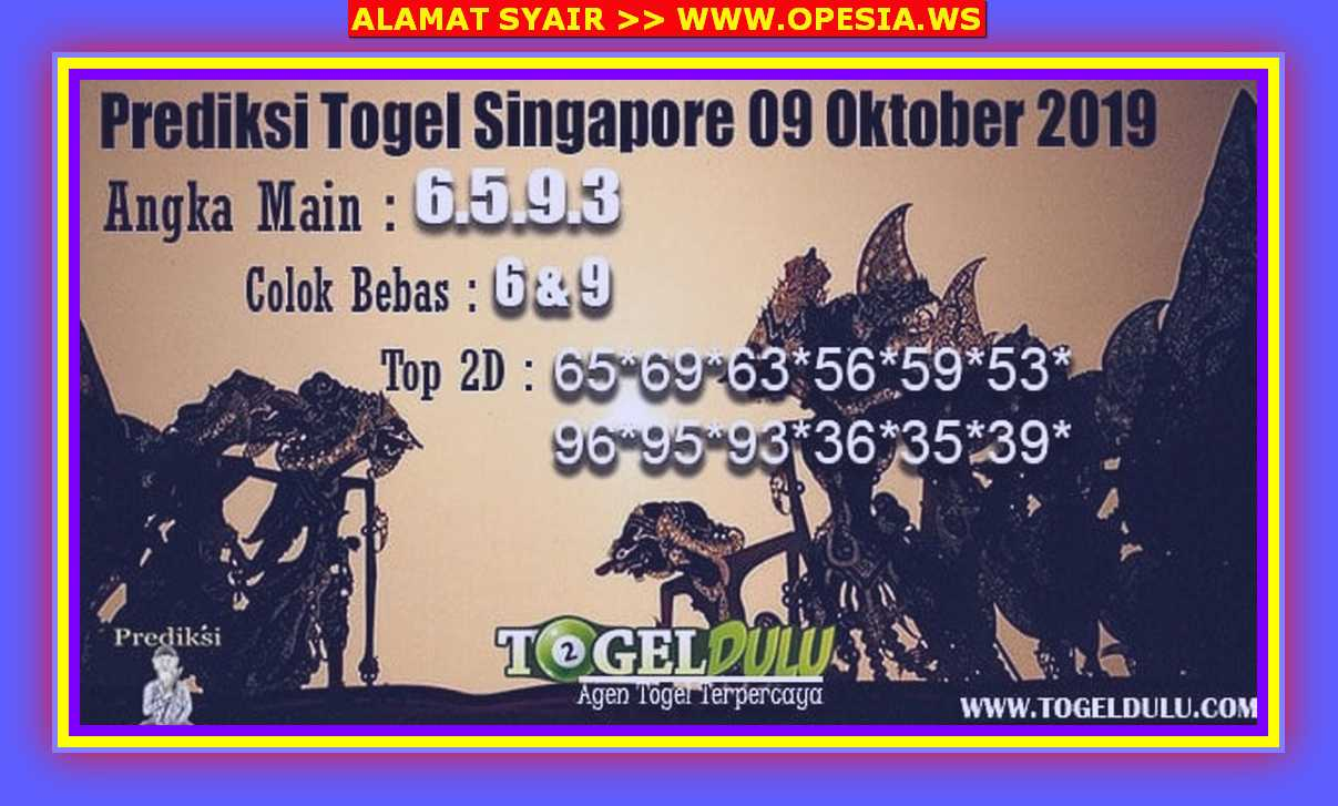 Kode syair Singapore Rabu 9 Oktober 2019 77