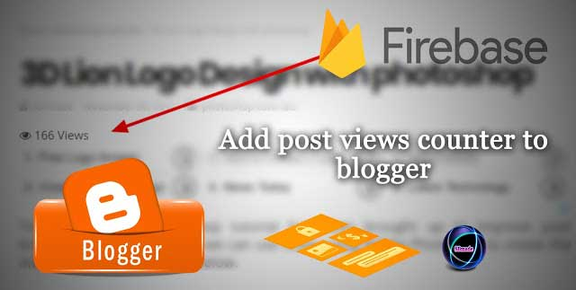 How to add post views counter to blogger