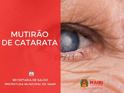 Prefeitura de Mairi realiza mutirão de cirurgia de catarata