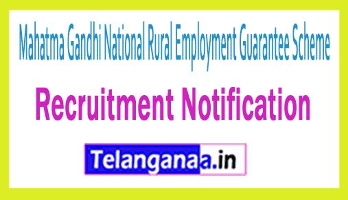 Mahatma Gandhi National Rural Employment Guarantee Scheme MGNREGA Recruitment
