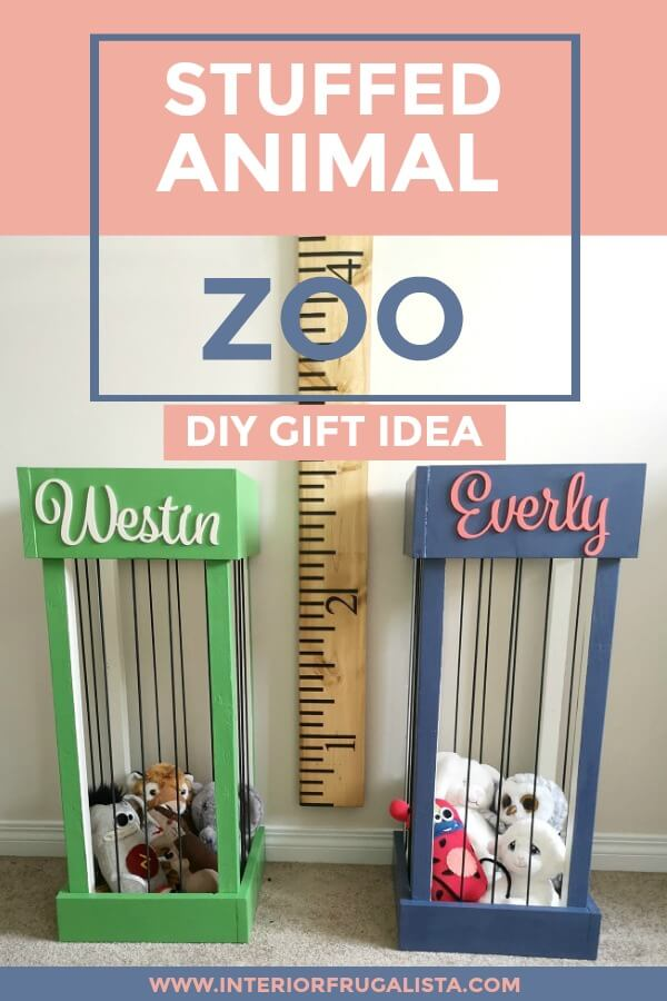 DIY Stuffed Animal Zoo Gift Idea