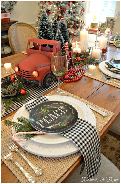 Christmas Tablescape: Rosemary & Thyme