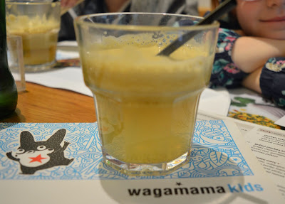 Apple juice at Wagamama