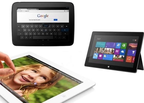 iPad 4 vs Nexus 10 vs Surface Tablets Specs Comparison and Review