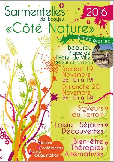 Côté Nature le salon bien être, saveurs du terroir, loisirs et découvertes des Sarmentelles de Beaujeu