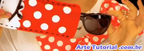 Caixa para óculos de sol da Minnie