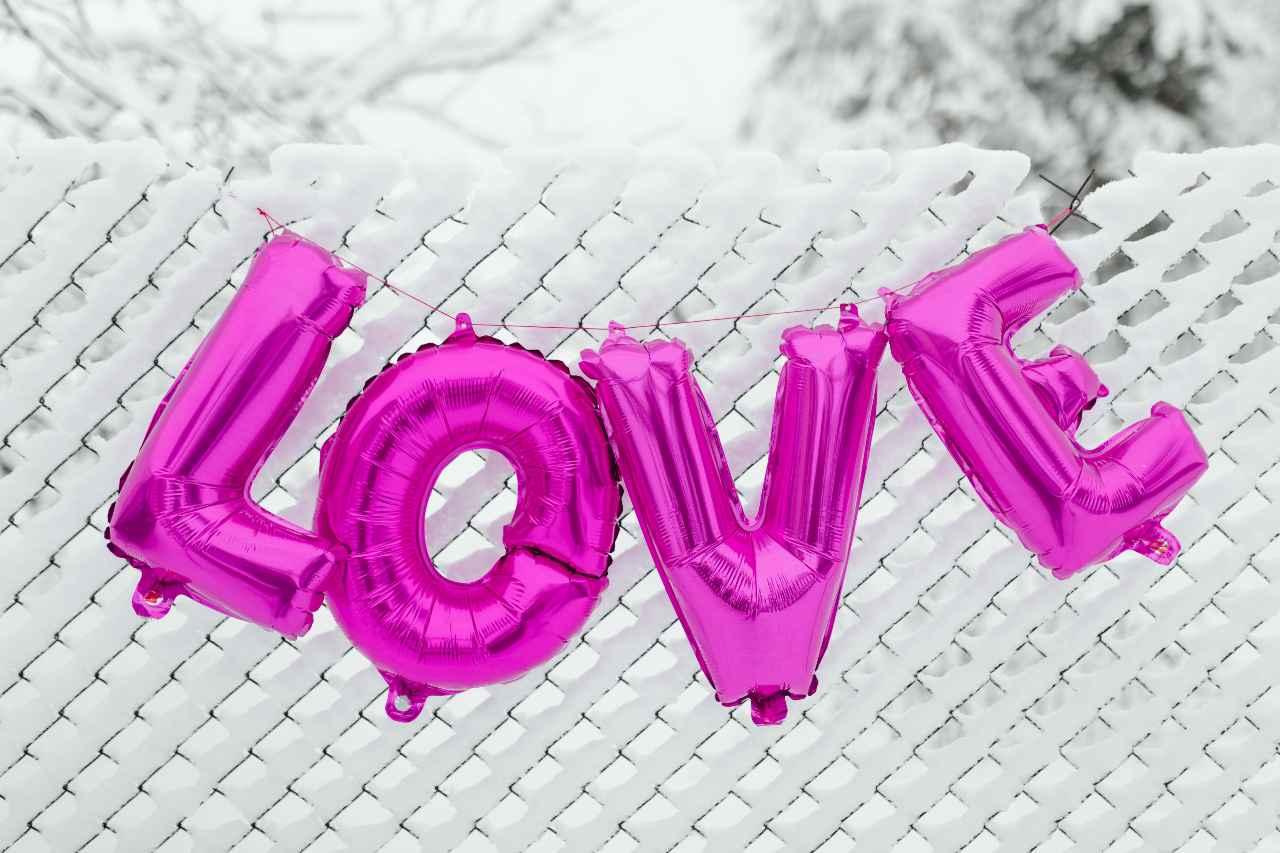 Pink Love Balloons