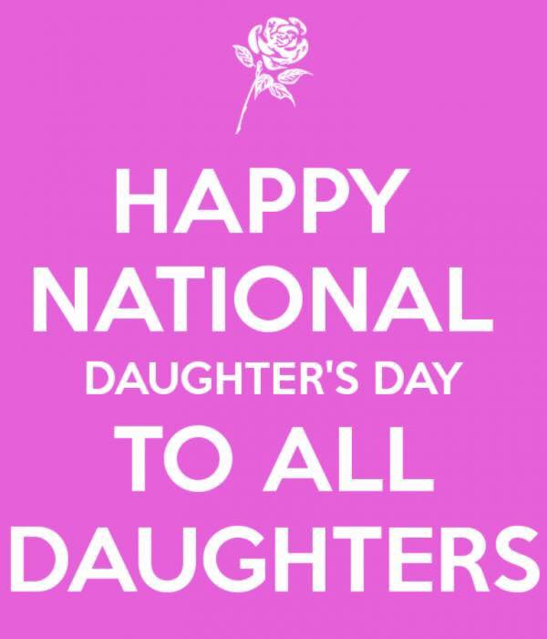 National Daughters Day Wishes Beautiful Image