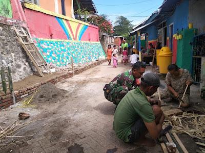 Babinsa Jajaran Kodim 1607/Sumbawa Bersinergi Songsong New Normal