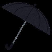 傘のイラスト(黒)