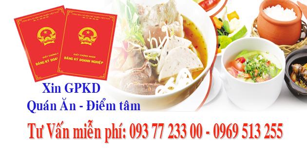 Xin giấy phép quán ăn tại TpHCM