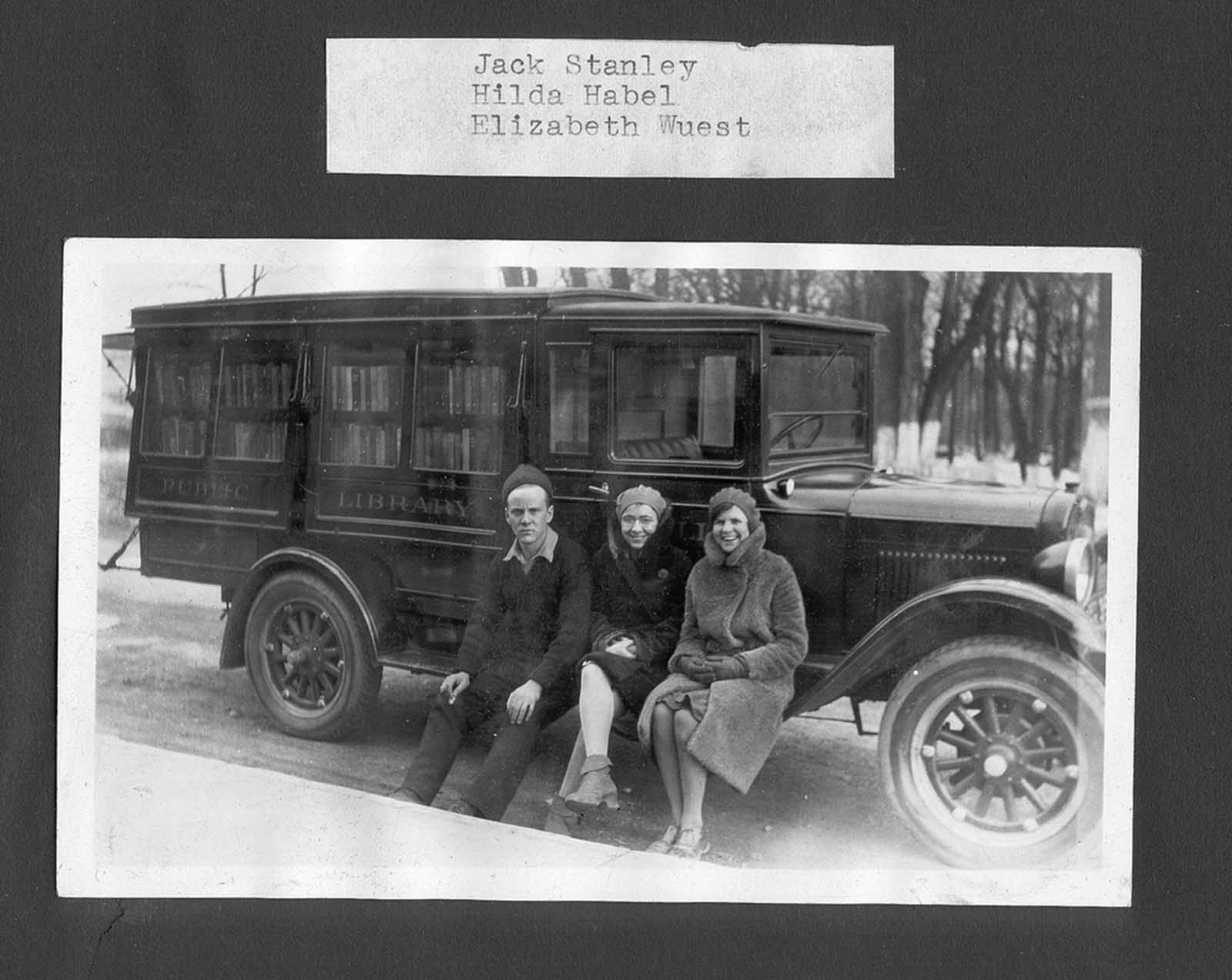 Bookmobile staff.