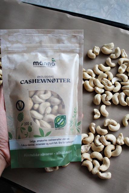 Økologiske cashewnøtter til cashewsmør