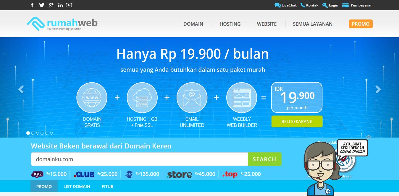 Beli Domain Murah di rumahweb.com