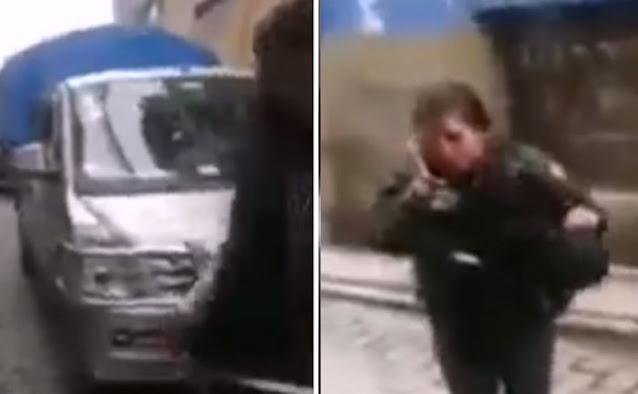 La Paz: Mujer policía termina golpada en la cara y ensangrentada por conductor en estado de ebriedad (ver vídeo)