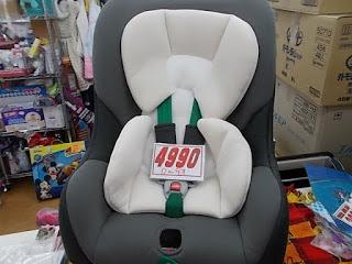チャイルドシート4990円、0歳~4歳対応グレー
