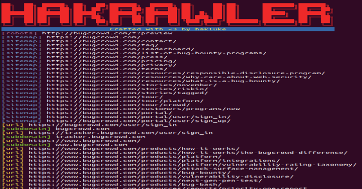 Hakrawler : Discovery Of Endpoints & Assets Within A Web Application