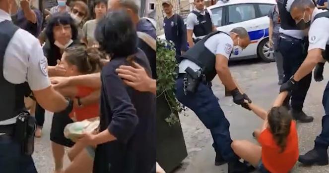 Τέσσερις αστυνομικοί για μία γυναίκα επειδή δεν φορούσε μάσκα (ΒΙΝΤΕΟ)