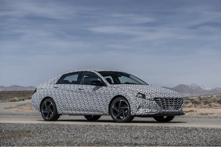 Xe thể thao Hyundai Elantra 2021 N Line lộ diện với ngoại hình thể thao và động cơ khủng