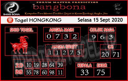 Prediksi Bangbona HK Selasa 15 September 2020