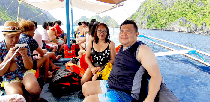 Tired and happy with our Tour C, El Nido companions.