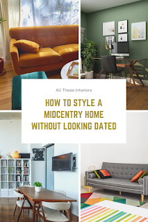 Pinnable graphic - headline how to style a midcentury interior
