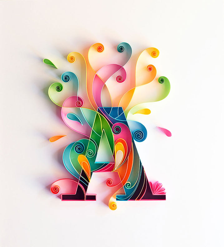 Colorida tipografía de filigrana por Sabeena Karnik