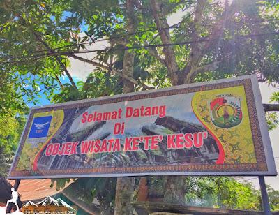 Selamat datang di objek wisata Kete Kesu di Tana Toraja
