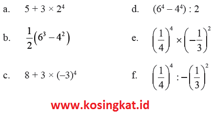 Kunci Jawaban Matematika Kelas 9 Halaman 10 11 Latihan 1 1 Kosingkat