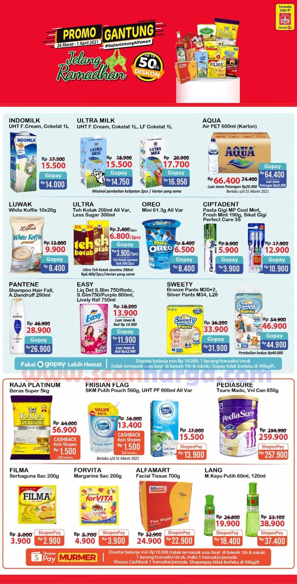 Katalog Promo Alfamart Gajian Untung (Gantung) 26 Maret - 1 April 2021 1