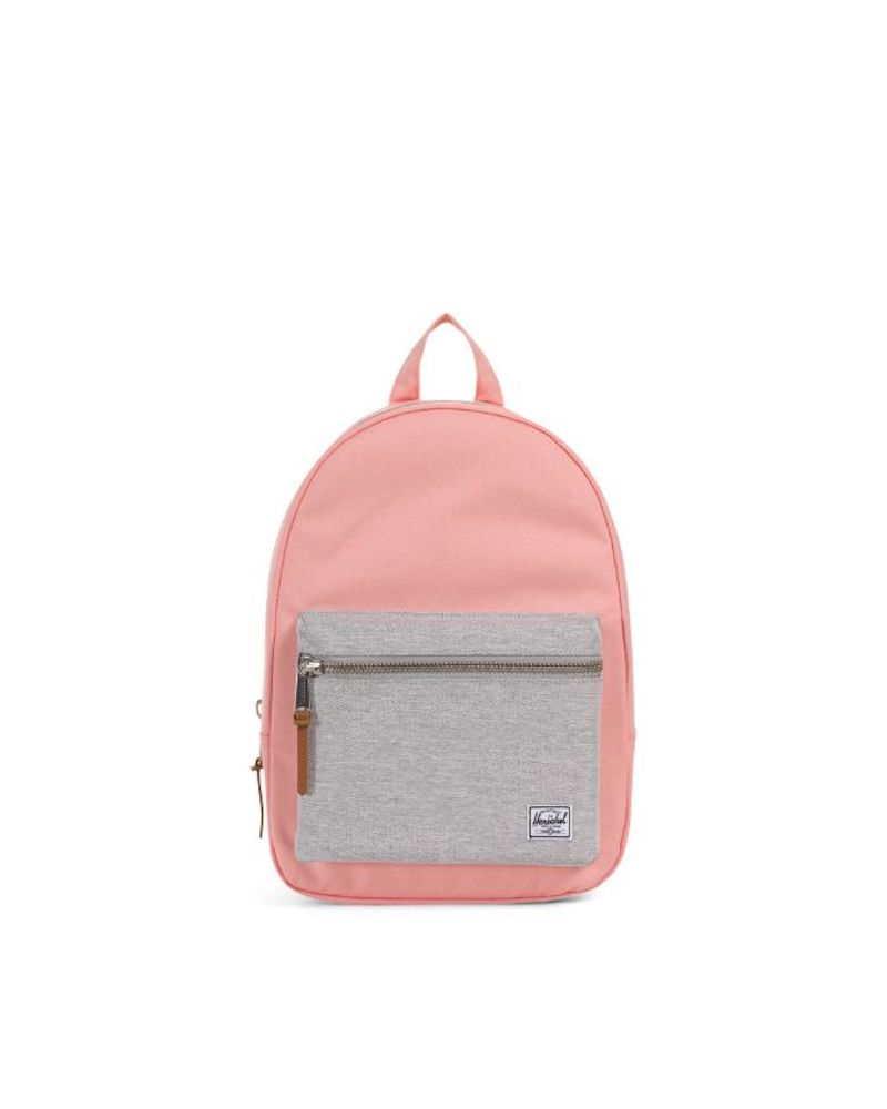 Herschel Grove Backpack in Peach/Light Grey Crosshatch