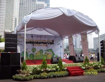 dekorasi panggung sederhana modern terbaru