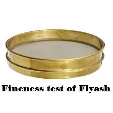 Fineness test of Flyash, Pozolanic material IS 1727-1967
