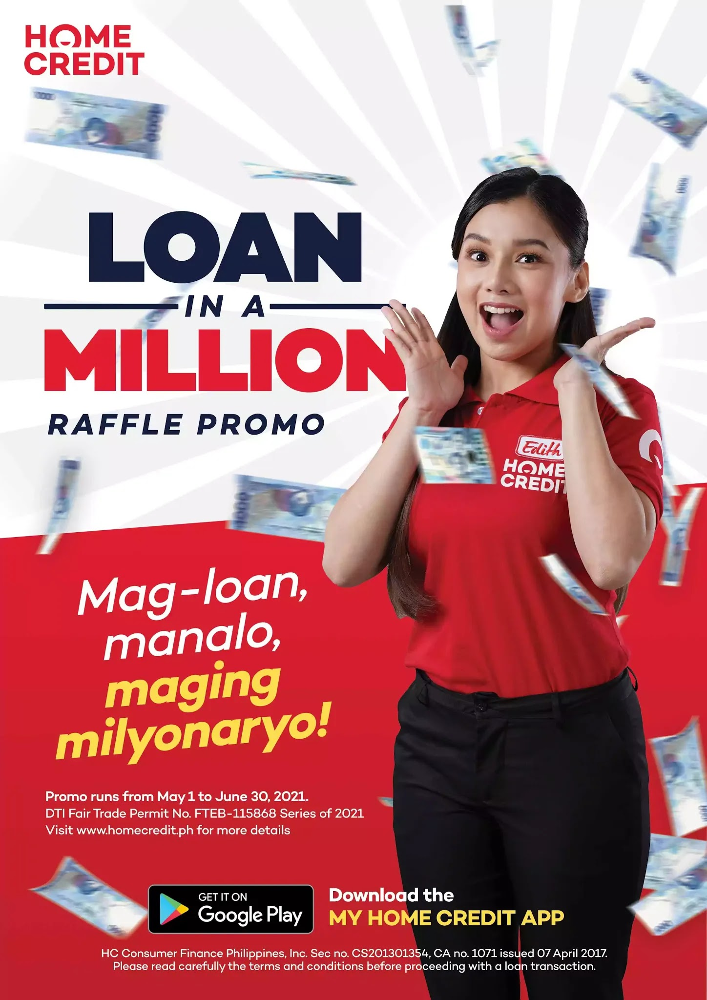 Home Credit's Loan in a Million Raffle Promo