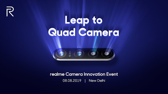 Realme: the smartphone with 64MP cam will be announced on August 8th | official