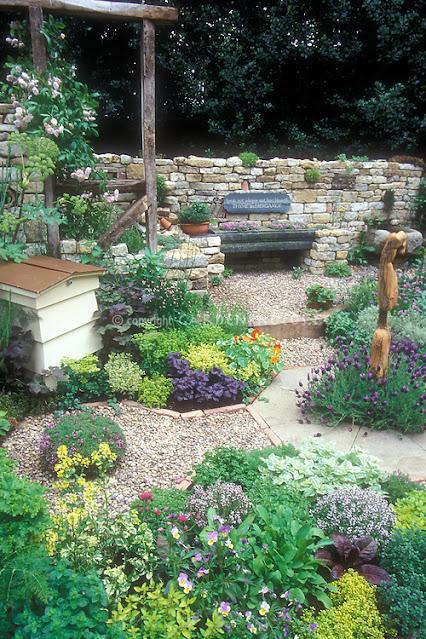 Beautiful herb garden landscaping plants