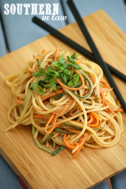 Gluten Free Cold Sesame Noodle Salad Recipe - gluten free, vegan, healthy, clean eating recipe, nut free, soy free, sugar free, work lunch ideas